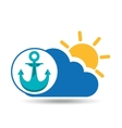 summer vacation design nautical anchor icon vector image