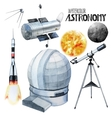Watercolor astronomy collection vector image