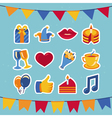 birthday and party icons and signs vector image vector image