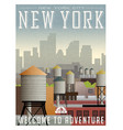new york travel poster or sticker vector image vector image