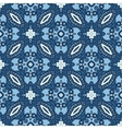 Seamless Blue Retro Pattern Background vector image vector image