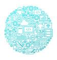 programming line icon circle design vector image