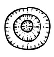 cartoon image of aim icon target symbol vector image