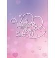 Valentines Card Valentines Day 2014 Purple Pink vector image