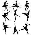 ballerinas vector image