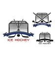 Ice hockey game sports symbols vector image vector image