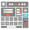Web interface template vector image vector image