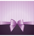 violet background with bow vector image