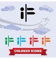 Arrow info icon Direction information symbol vector image