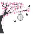 bird cage cherry vector image
