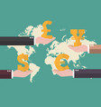 currency exchange concept with world map vector image