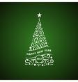 decorative christmas tree card vector image