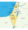 State of Israel - map vector image