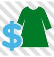 Dress Price Icon vector image
