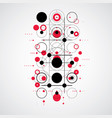 bauhaus abstract red background made with grid vector image