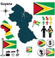 Guyana map vector image vector image