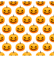 Halloween pumpkins seamless background vector image vector image