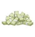 Hill of bundles with money vector image vector image