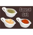 Sauce set vector image
