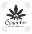 Marijuana logo - cannabis for medical use vector image