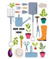 Set of gardening tools vector