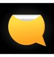 Bubble quote comma symbol badge vector image