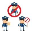 cartoon policeman vector image