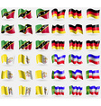Saint Kitts and Kevis Germany Vatican CityHoly See vector image