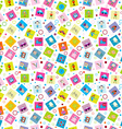 Wrapping paper with toys for kids vector image
