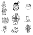 Thanksgiving object in doodle set vector image