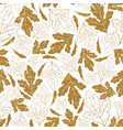autumn seamless pattern with fall leaves isolated vector image