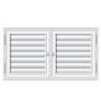 Door shutters on isolate background vector image