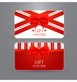 Gift voucher template with bow vector image
