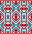 multicolor ethnic tribal seamless pattern aztec vector image