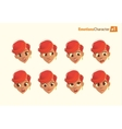 Woman with different facial expressions set vector image