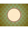Vintage frame with circles vector image