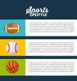 sports infographic presentation vector image