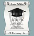 high school academic concept with graduation cap vector image
