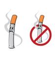 Cartoon cigarette vector image