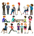 A group of businessminded people vector image