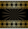background with golden arabic decorations and rays vector image