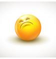 cute curious emoticon emoji - vector image
