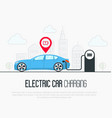 electric blue car with low battery vector image