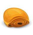 french chocolate bread icon vector image