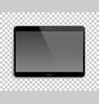 gadget mockup transparent background horizontal vector image