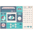 Maternity flat design Infographic Template vector image