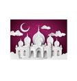 mosque in the night moon vector image