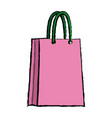 pink paper bag shopping empty vector image