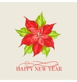 Red poinsettia flower vector image
