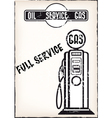 service station poster vector image